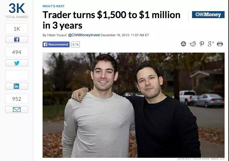 从1,500美金增长到128,00美金,这个90后只花了1年时间